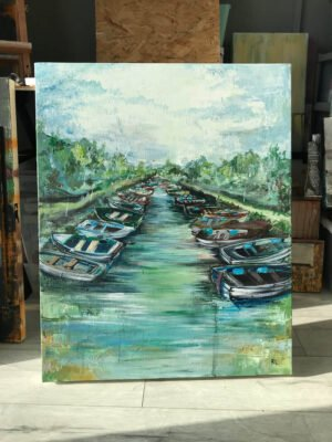 Down by the Docks at Ross Castle-acrylic-canvas-painting