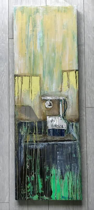 No Diesel - oil painting on canvas
