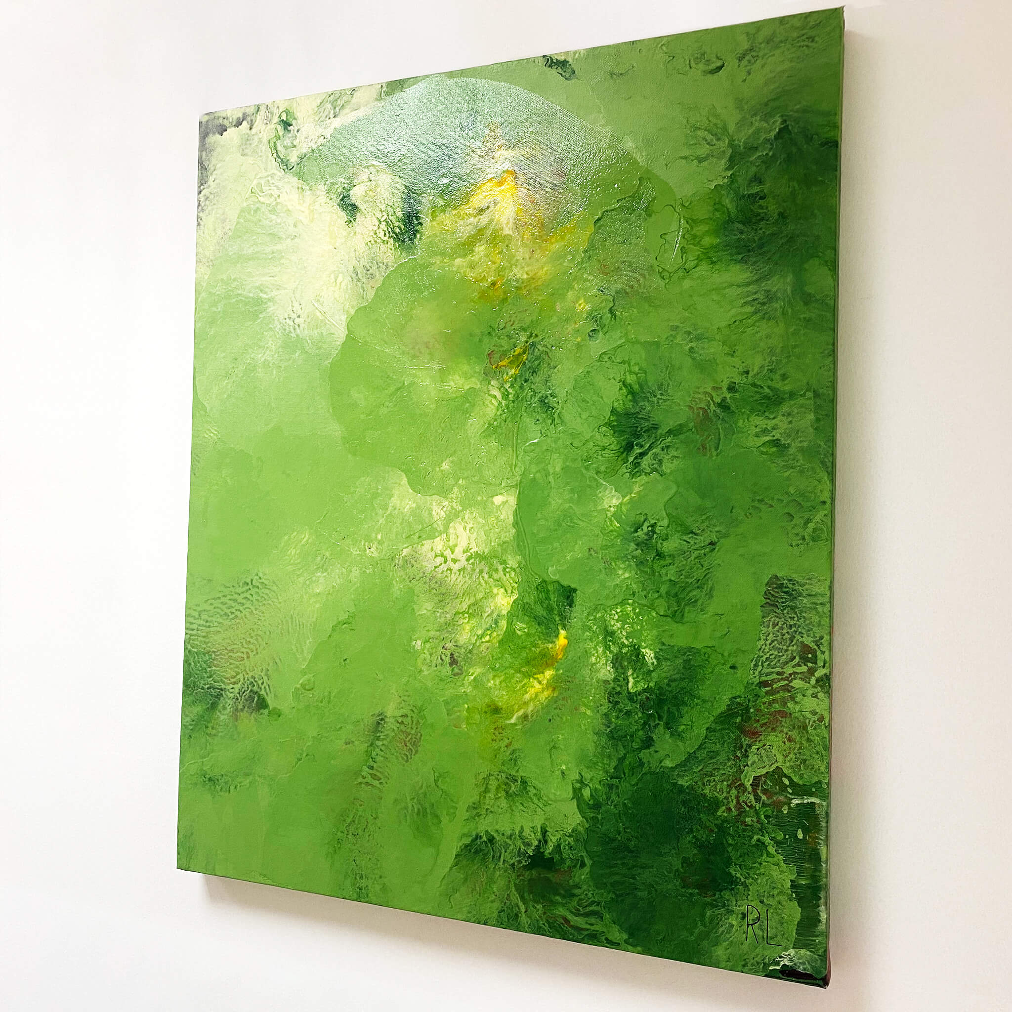 Green Series 3 painting